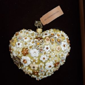 Jewelry - 😇 Jay Strongwater Blossom Heart Glass Ornament